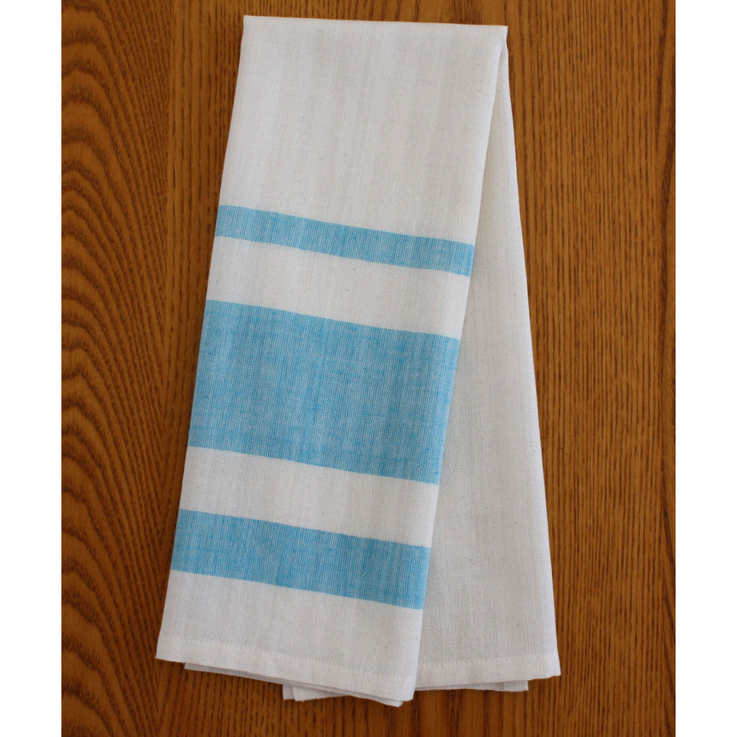Blue Stripe Cotton Tea Towels Set of 2