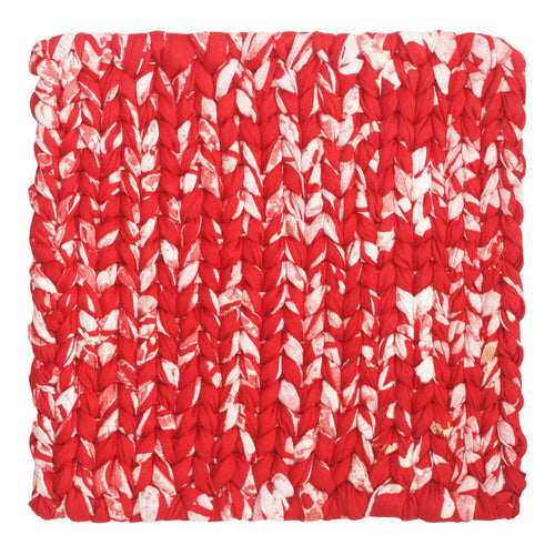 Recycled Fabric Trivet Red