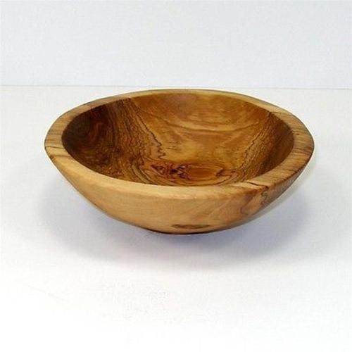 6-Inch Hand-carved Olive Wood Bowl Handmade and Fair Trade