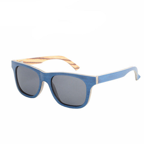 Bay Blue Wooden Sunglasses - BayNavy, Sunglasses - Sunglasses, BayNavy - BayNavy