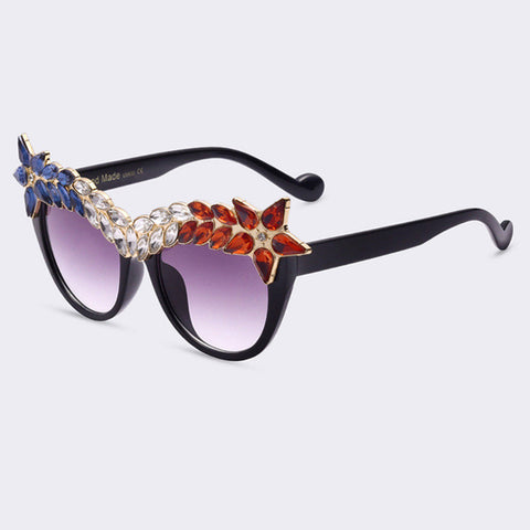Crystal Diamond Cat Eye Sunglasses - BayNavy, Sunglasses - Sunglasses, BayNavy - BayNavy