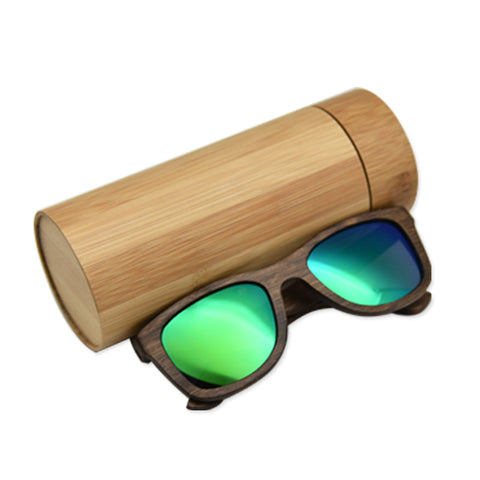 Dark Wood Sunglasses With Polarized Lense - BayNavy, Sunglasses - Sunglasses, BayNavy - BayNavy