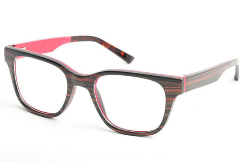 Optical Red Myopia Wooden Glasses - BayNavy, Sunglasses - Sunglasses, BayNavy - BayNavy