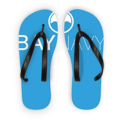 Light Blue BayNavy Flip Flops - BayNavy, Accessories - Sunglasses, BayNavy - BayNavy