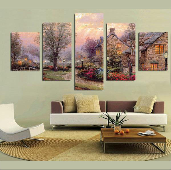 Country Cottage - 5 Piece Set - TheCanvasWarehouse