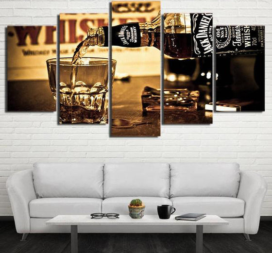 Jack Daniel's Whiskey - 5 Piece Set - TheCanvasWarehouse