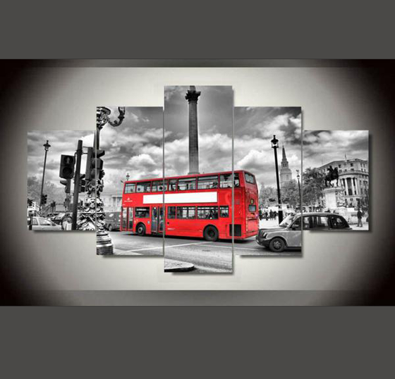 London Bus - 5 Piece Set - TheCanvasWarehouse