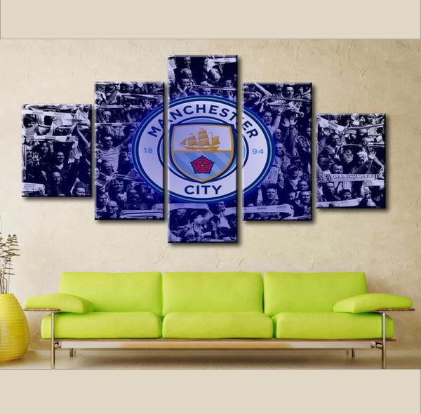 Manchester City - 5 Piece Set - TheCanvasWarehouse