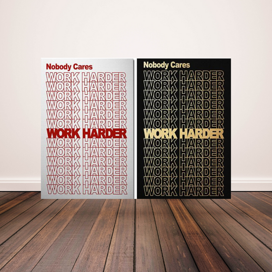 Work Harder - 2 Pack - TheCanvasWarehouse