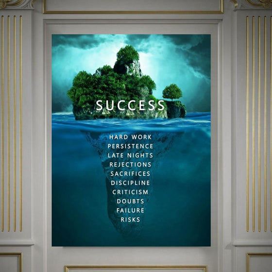 Success Island - Blue - TheCanvasWarehouse