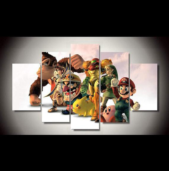 Super Smash Bros - 5 Piece Set - TheCanvasWarehouse