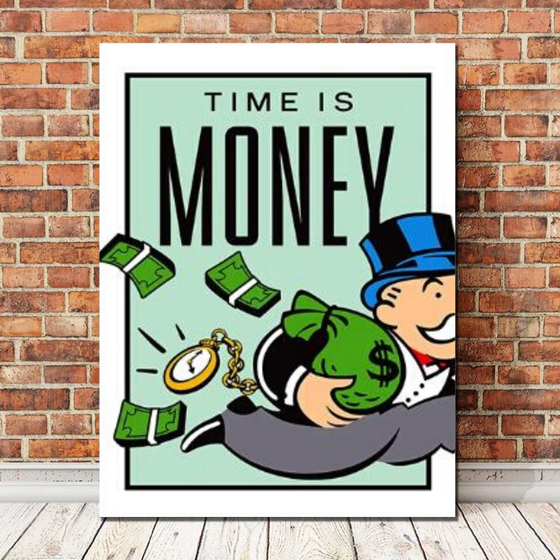 Time is Money - TheCanvasWarehouse