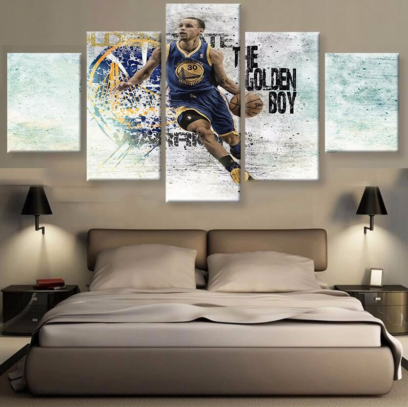 Stephen Curry 'The Golden Boy' - 5 Piece Set - TheCanvasWarehouse