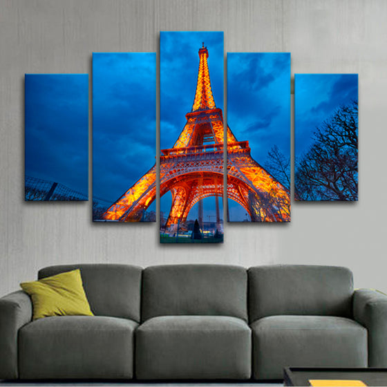 "Paris ""Eiffel Tower"" - 5 Piece Set - TheCanvasWarehouse"