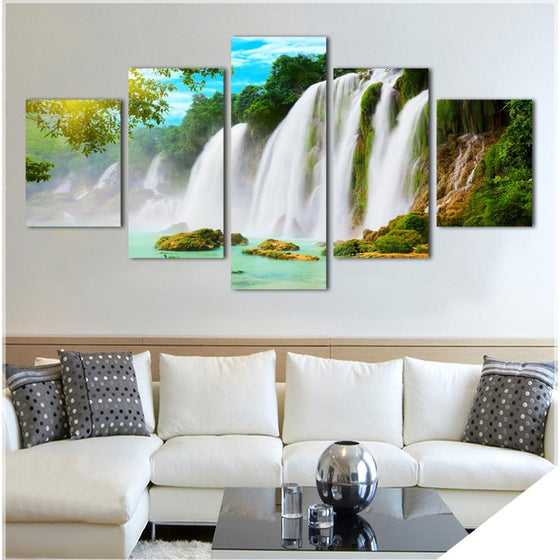 Hawaiian Waterfalls - 5 Piece Set - TheCanvasWarehouse