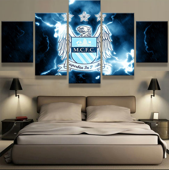 Manchester City Away - 5 Piece Set - TheCanvasWarehouse