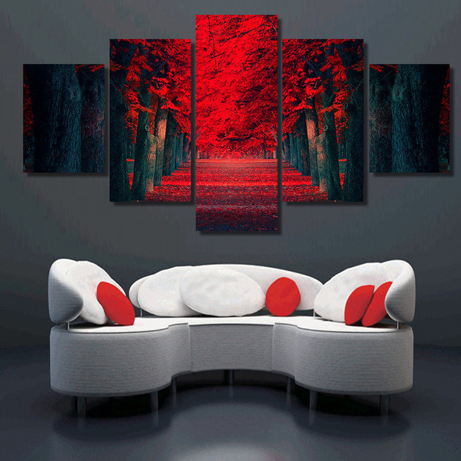 Red Woods - 5 Piece Set - TheCanvasWarehouse