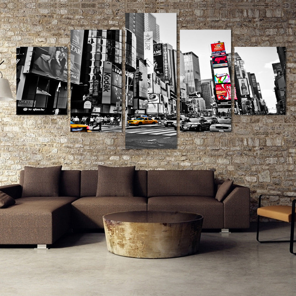 Time Square - 5 Piece Set - TheCanvasWarehouse