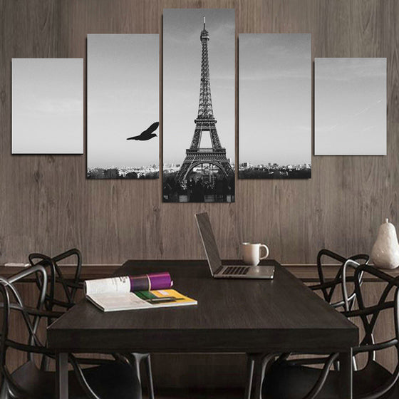 "Paris ""Black & White"" - 5 Piece Set - TheCanvasWarehouse"