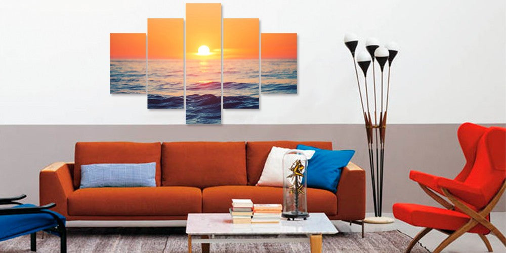 Sunset on the Water - 5 Piece Set - TheCanvasWarehouse