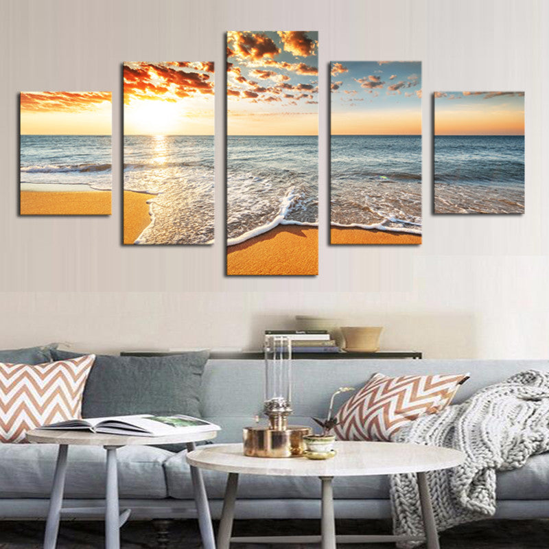 Sunset at the Beach - 5 Piece Set - TheCanvasWarehouse