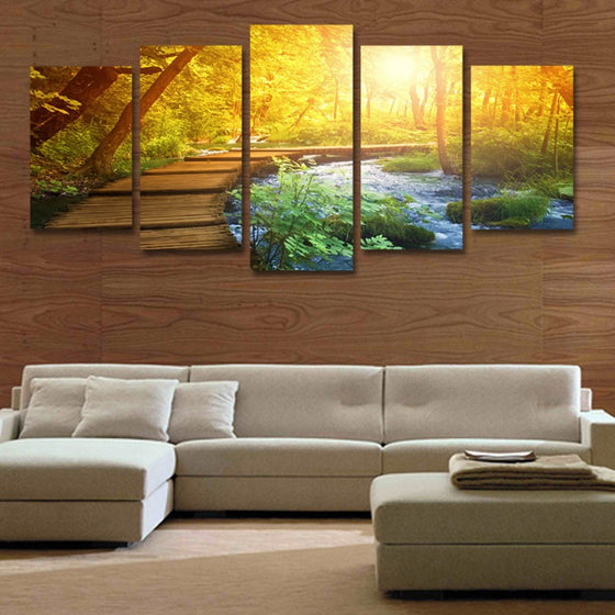 Sunset in the Forest - 5 Piece Set - TheCanvasWarehouse