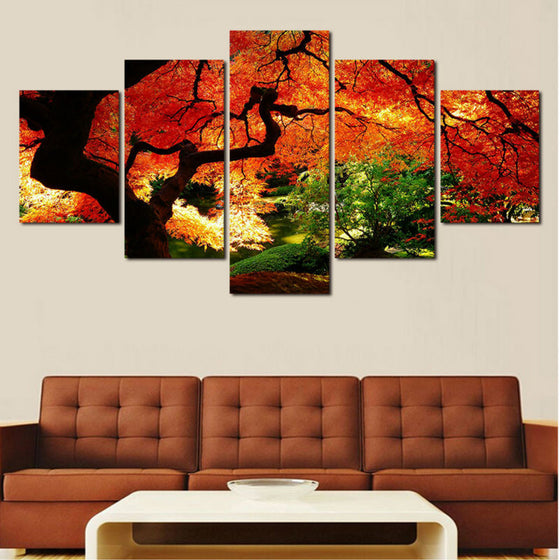 Autumn Trees - 5 Piece Set - TheCanvasWarehouse