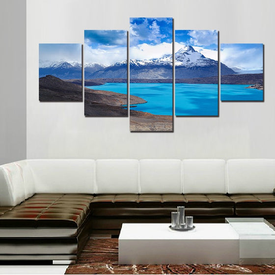 Snowy Mountain River - 5 Piece Set - TheCanvasWarehouse