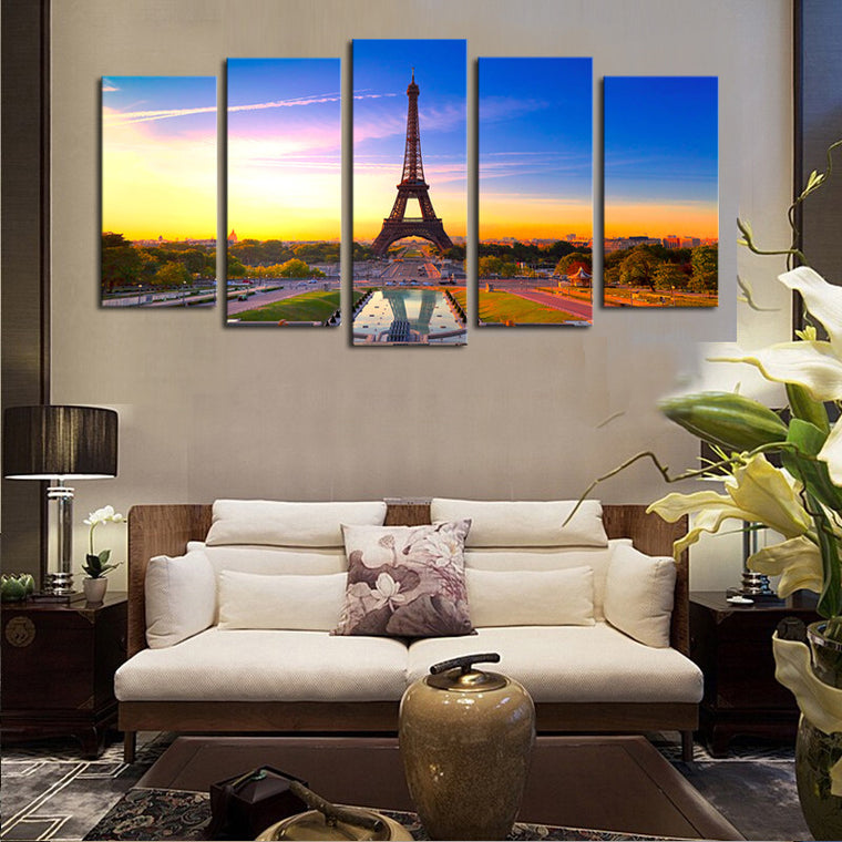 Eiffel Tower by Day - 5 Piece Set - TheCanvasWarehouse