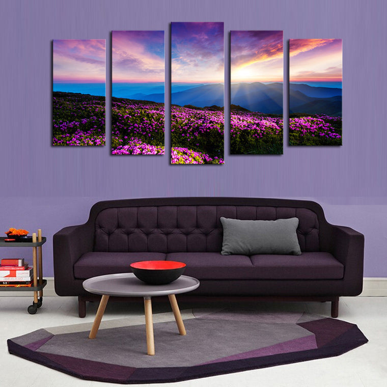 Colorful Sunset - 5 Piece Set - TheCanvasWarehouse