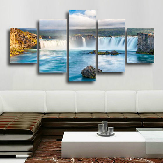 Mountain Waterfall - 5 Piece Set - TheCanvasWarehouse