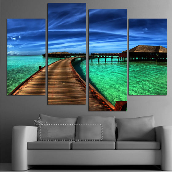 Bridge to Paradise - 4 Piece Set - TheCanvasWarehouse