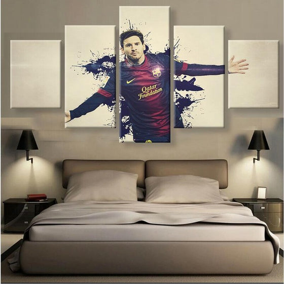 "Lionel Messi ""Barcelona"" - 5 Piece Set - TheCanvasWarehouse"