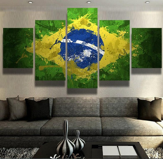 Brazilian Flag - 5 Piece Set - TheCanvasWarehouse