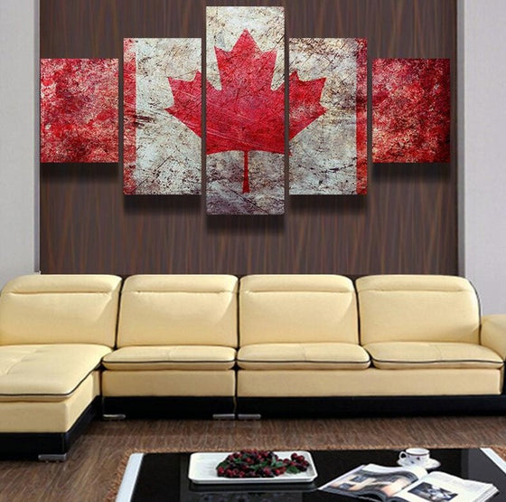 Canadian Flag - 5 Piece Set - TheCanvasWarehouse
