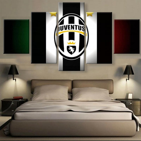 "Juventus FC ""Flag"" - 5 Piece Set - TheCanvasWarehouse"