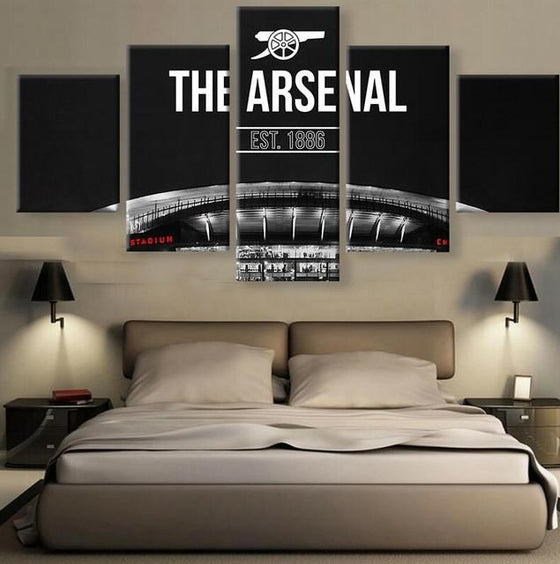 "Arsenal FC ""Away"" - 5 Piece Set - TheCanvasWarehouse"