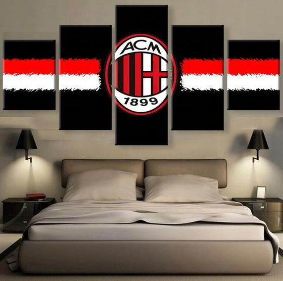 AC Milan Black - 5 Piece Set - TheCanvasWarehouse