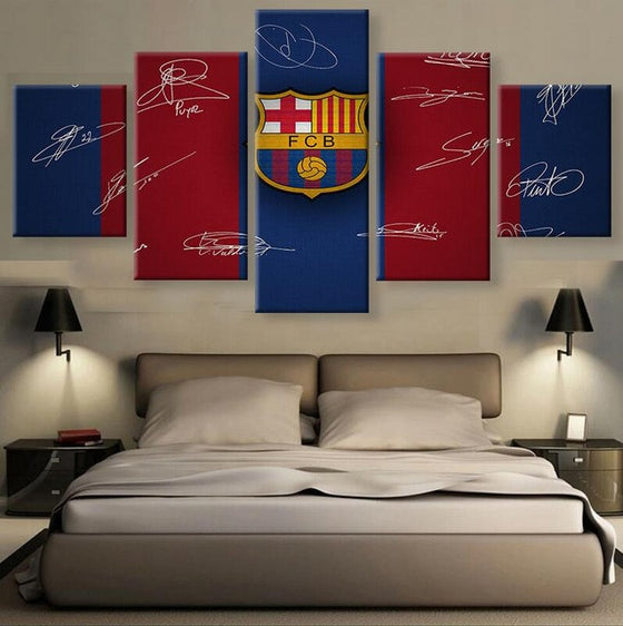 "FC Barcelona ""Signatures"" - 5 Piece Set - TheCanvasWarehouse"