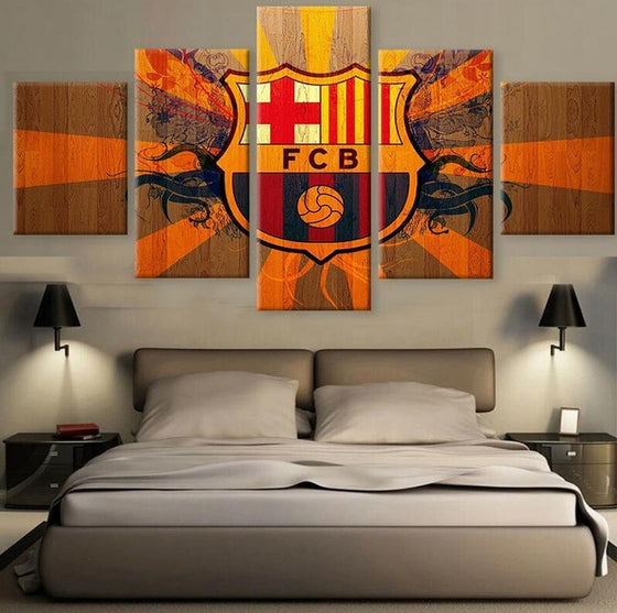 "FC Barcelona ""Orange"" - 5 Piece Set - TheCanvasWarehouse"