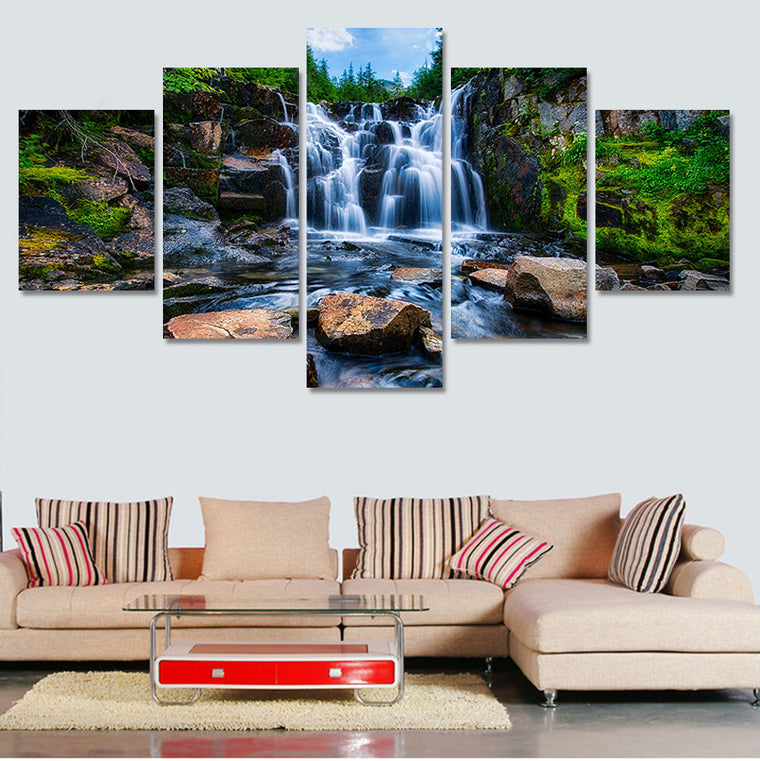 Tropical Waterfall - 5 Piece Set - TheCanvasWarehouse