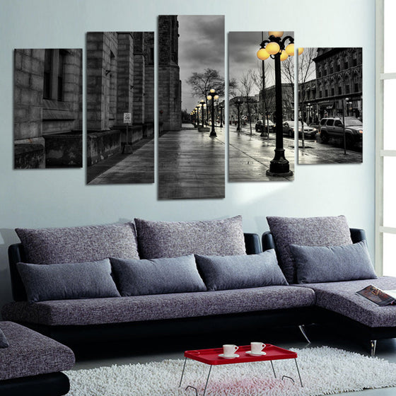 Street Lamp Boulevard - 5 Piece Set - TheCanvasWarehouse
