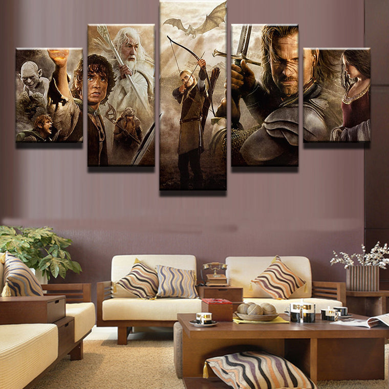 Lord of the Rings - 5 Piece Set - TheCanvasWarehouse
