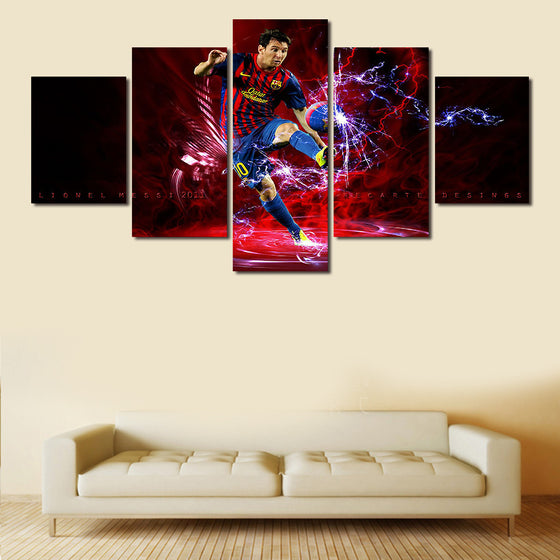 "Lionel Messi ""Goal"" - 5 Piece Set - TheCanvasWarehouse"