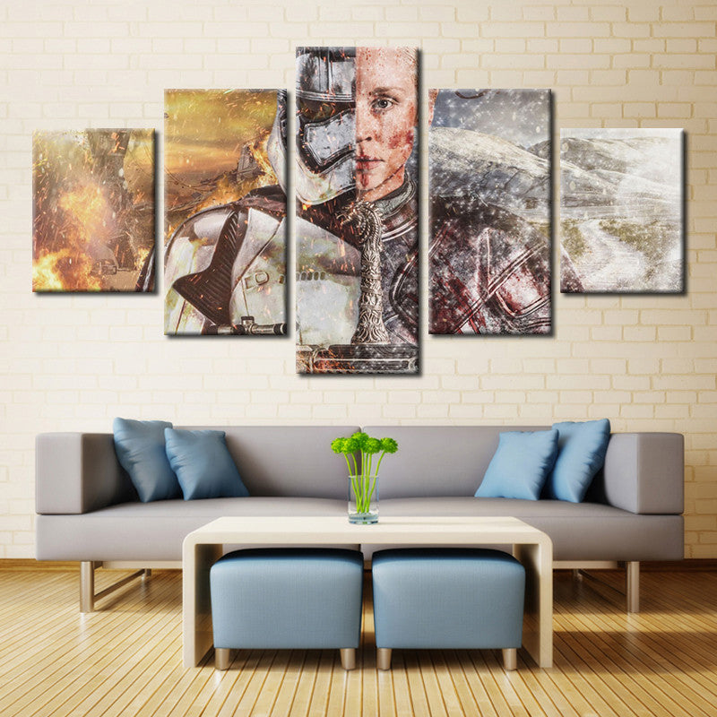Star Wars vs. Game Of Thrones - 5 Piece Set - TheCanvasWarehouse