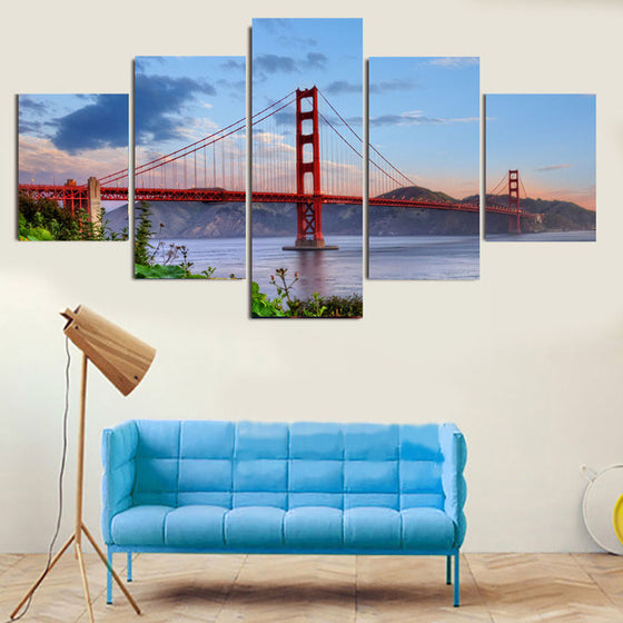 Golden Gate Bridge - 5 Piece Set - TheCanvasWarehouse