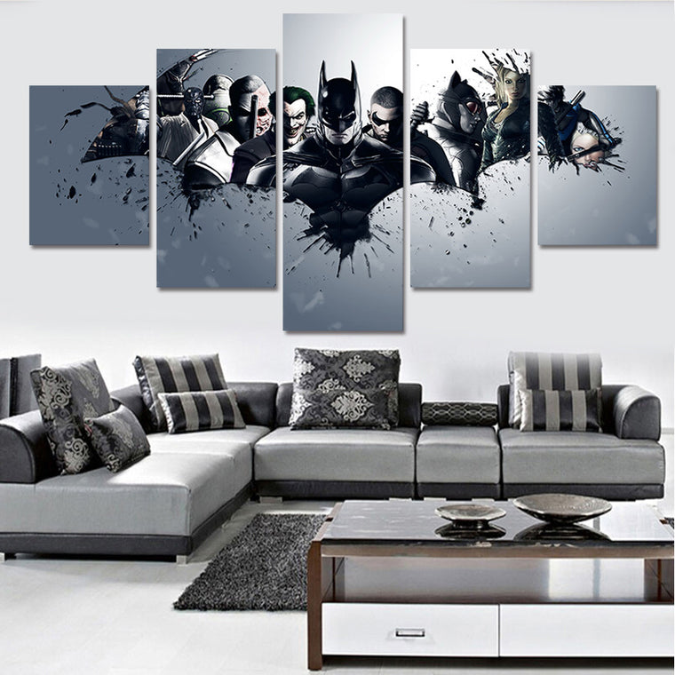 "Batman ""Villains"" - 5 Piece Set - TheCanvasWarehouse"