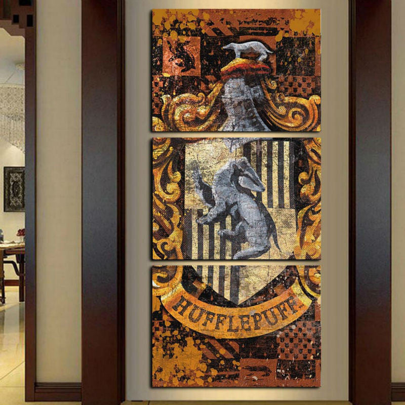 Harry Potter: Hufflepuff - 3 Piece Set - TheCanvasWarehouse