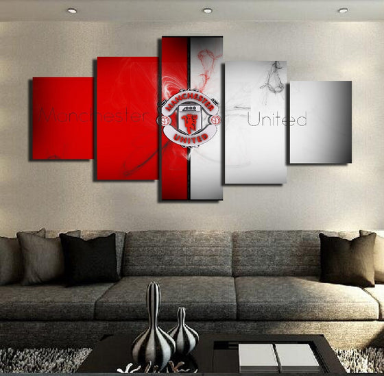 "Manchester United ""Red/White"" - 5 Piece Set - TheCanvasWarehouse"
