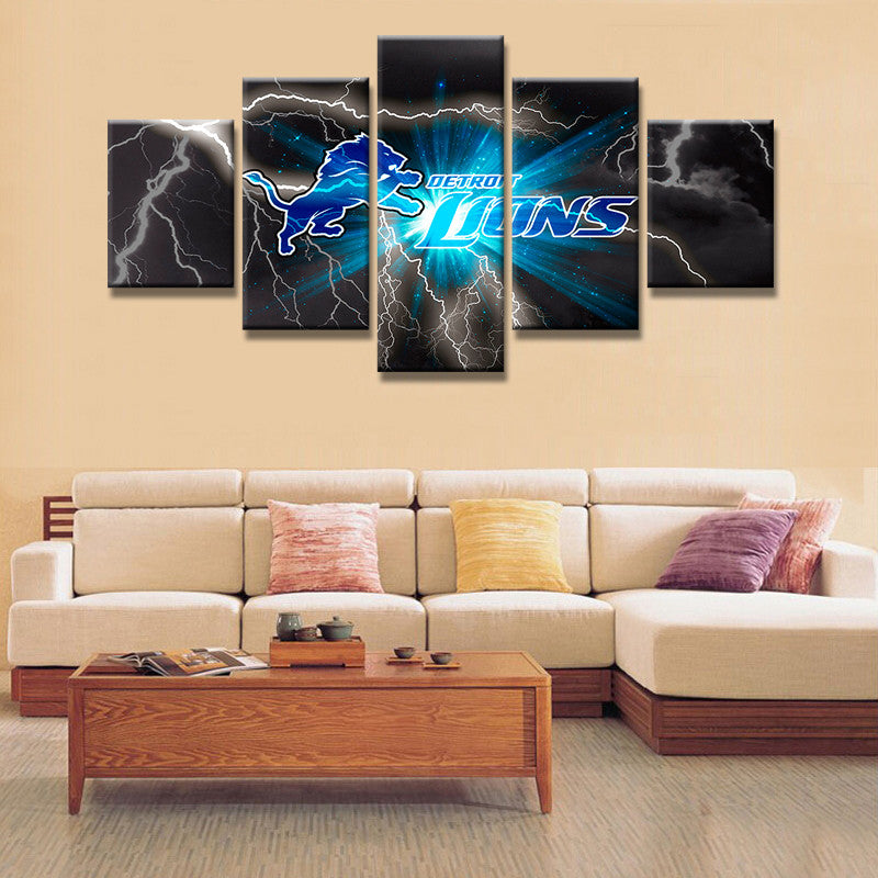 Detroit Lions - 5 Piece Set - TheCanvasWarehouse